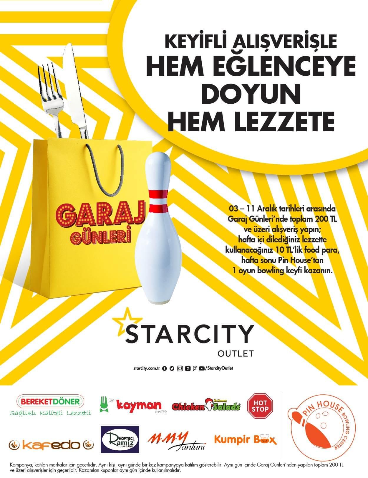 Garaj Günleri Food Para & Bowling Kampanyası