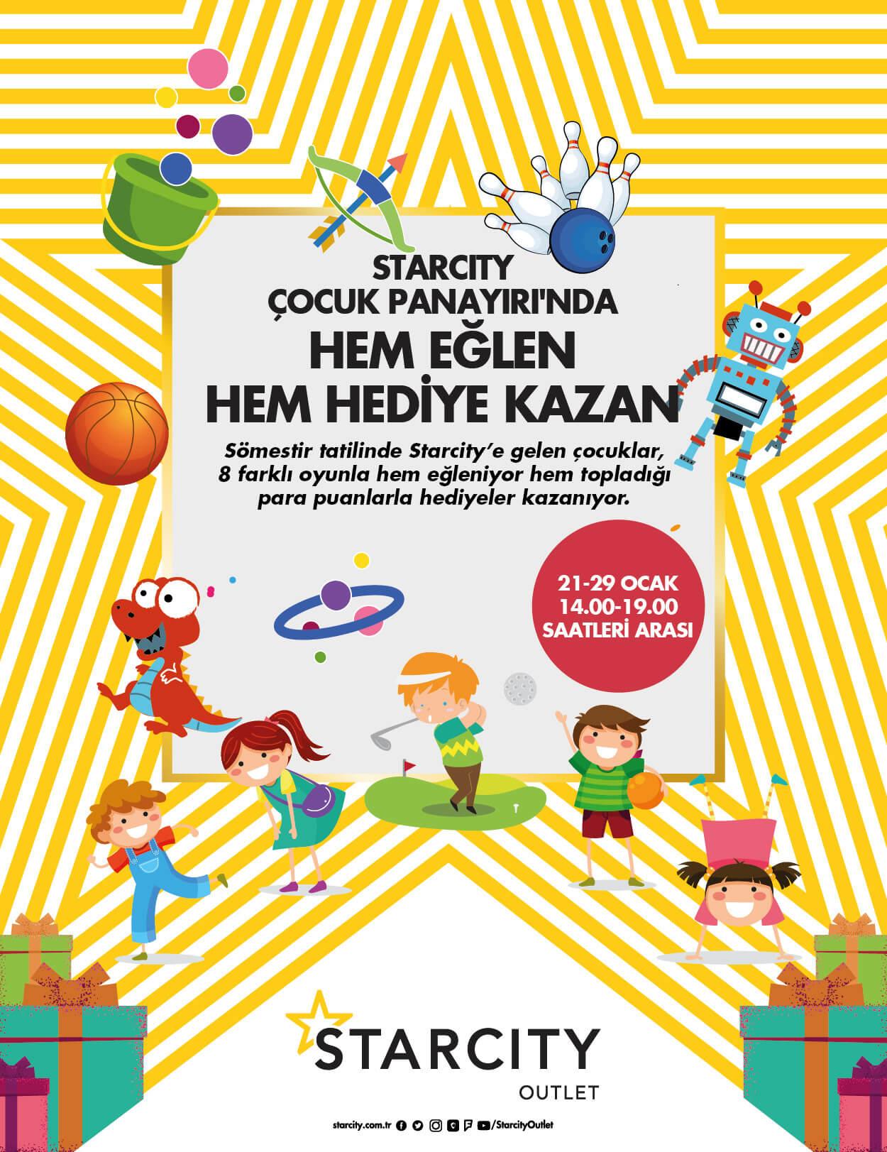 Starcity Çocuk Panayırı'nda Hem Eğlen Hem Hediye Kazan