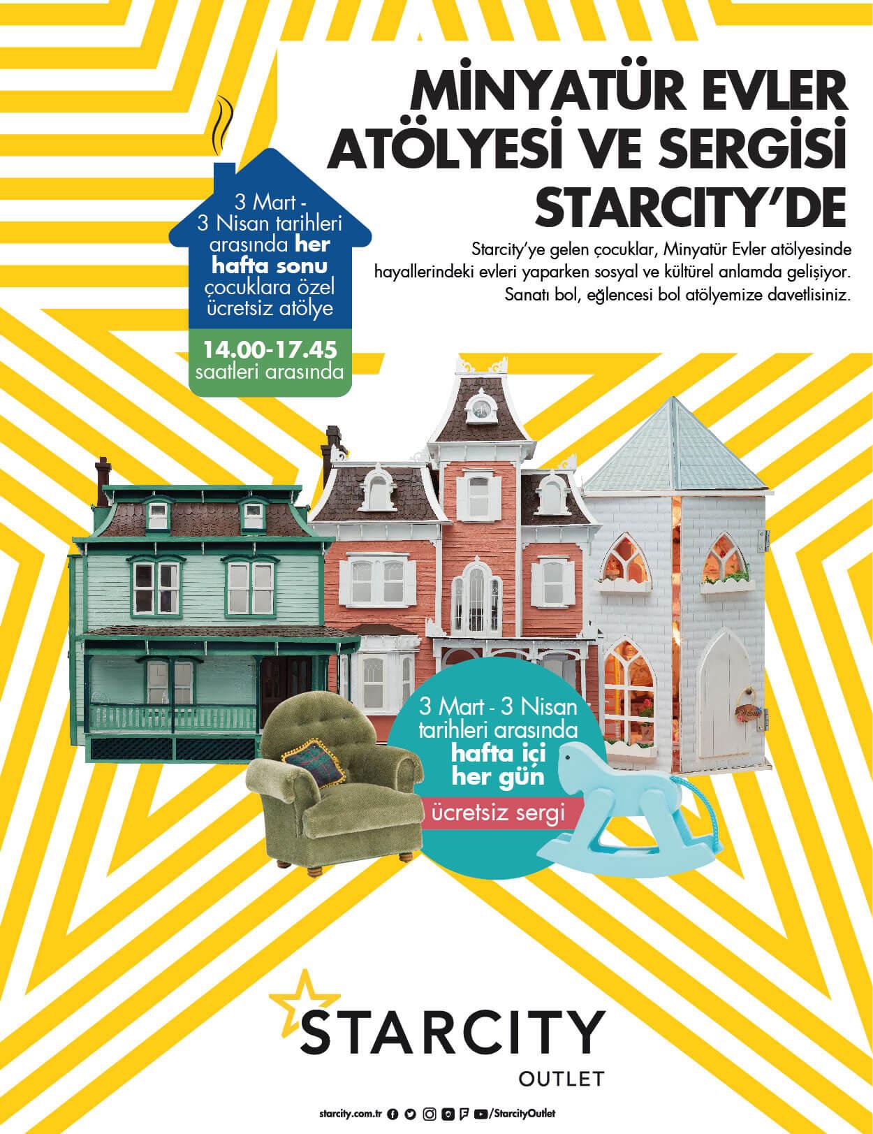 Minyatür Evler Atölyesi Ve Sergisi Starcity'de