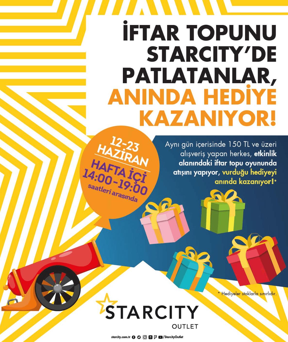 Hafta içi Starcity'e Gelenler, Ramazan Hediyelerinin Sahibi Oluyor