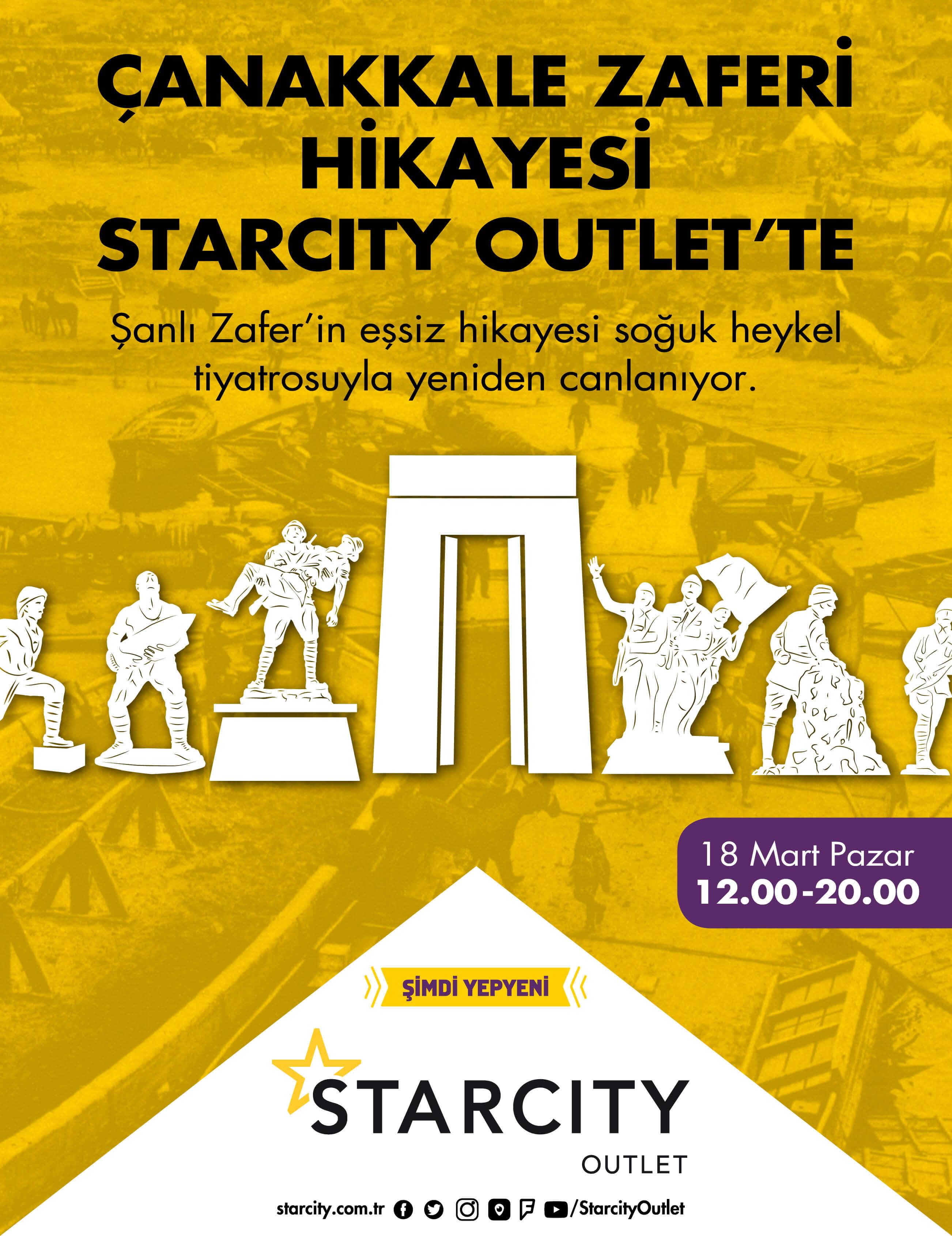 ÇANAKKALE ZAFERİ HİKAYESİ STARCITY OUTLET'TE