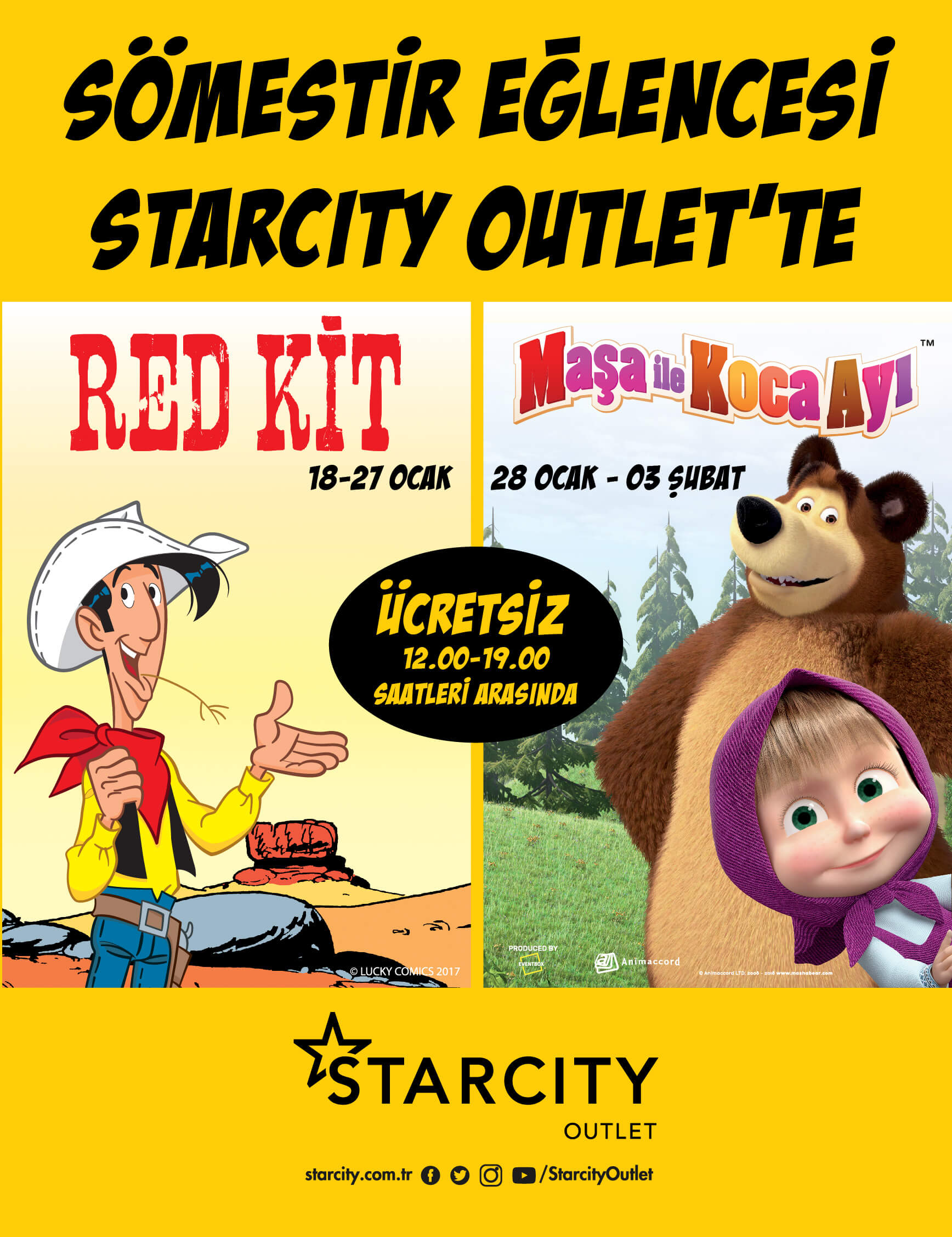 Red Kit ve Maşa İle Koca Ayı Starcity Outlet'te!