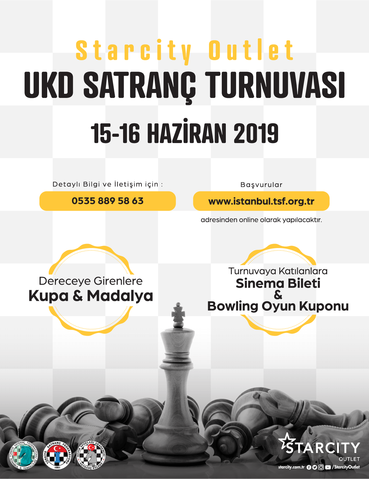 Starcity Outlet UKD Satranç Turnuvası