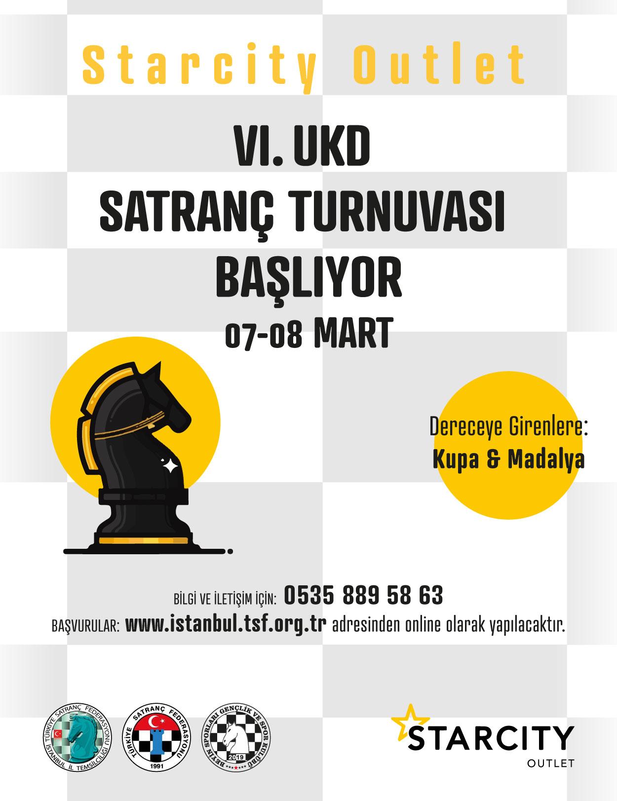 Starcity Outlet Satranç Kulübü VI. UKD Satranç Turnuvası